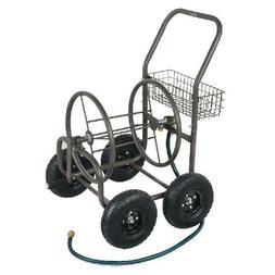 Garden Hose Reel Cart on Wheels - Holds 250ft Hose 4 Wheel P