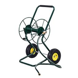 Goplus Garden Hose Reel Cart Water Hose Holder Steel Frame f