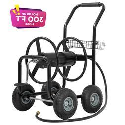 Garden Hose Reel Cart with Wheels Garden Lawn Water Truck Wa