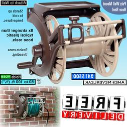 Garden Hose Reel Wall Mount Guide Tray Hanger Water Outdoor