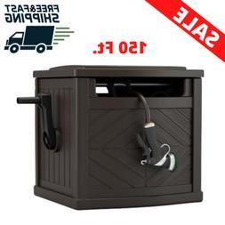 Garden Hose Storage Box Reel 150 Ft. Organizer Patio Water P