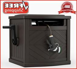 Garden Hose Storage Box Reel Organizer Patio Water Pipe Hold
