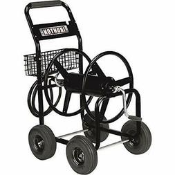 Garden Hose Storage Reel Cart Holds 300 Feet Built-In Wateri
