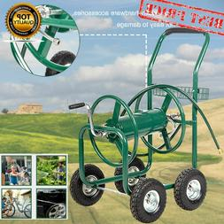 Garden Water Hose Reel Cart 300ft Outdoor Heavy Duty Yard Pl
