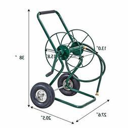 Garden Wheeled Hose Reel Cart Steel Frame Hose Truck Outdoor
