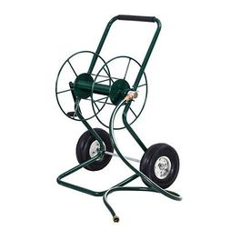 Garden Wheeled Hose Reel Cart Steel Frame Hose Truck Outdoor