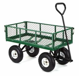 GOR400-COM Steel Garden Cart with Removable Sides 400-lbs Ca