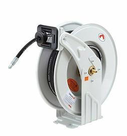 """REELWORKS Grease-Hose-Reel Retractable 1/4"""" Inch x 50' Feet"""