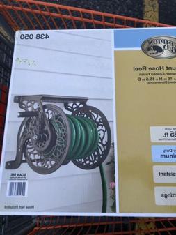 Hampton Bay Hose Reel Wall-Mount Manual Crank Cast Aluminum