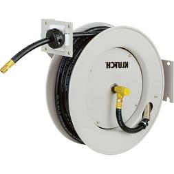 Klutch Heavy-Duty Auto Rewind Air Hose Reel — With 3/8in.