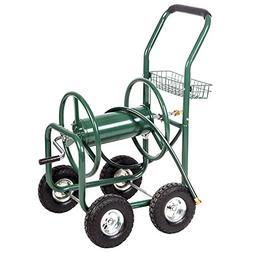 BestMassage Garden Water Hose Reel Cart Garden Cart with Hea