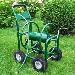 Outdoor Heavy Duty Garden Water Hose Reel Cart 300 FT Yard P