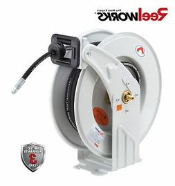 "REELWORKS Heavy Duty GREASE Spring Driven Hose Reel 1/4"" x 5"