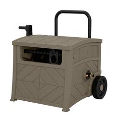 150 ft. Hose Hideaway Reel Storage Bin Portable Wheels Cart