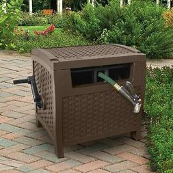 Hose Reel Suncast Retractable Water Garden Yard Aquawinder A