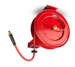 TEKTON 50-Foot x 3/8-Inch I.D. Auto Rewind Air Hose Reel wit