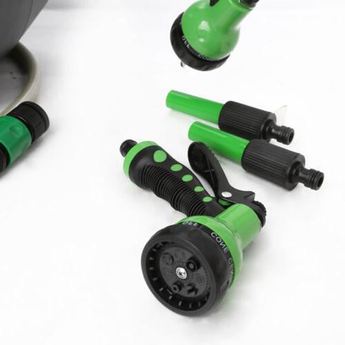 100' Retractable Garden Hose Reel Wall Water Rewind Gun