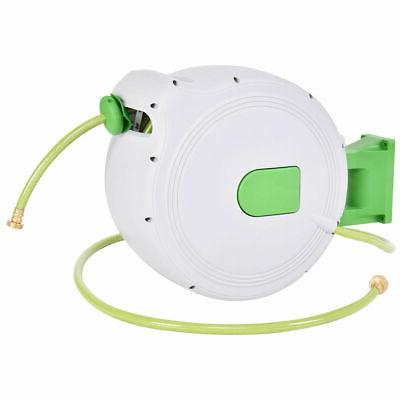 100 retractable water garden hose reel auto