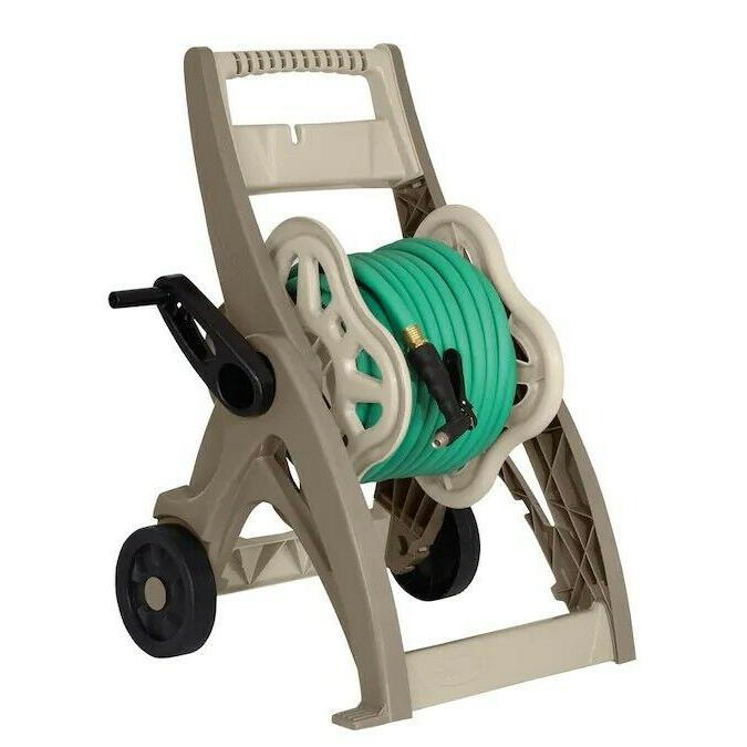 Water Hose Reel Cart 175 Ft Durable Mobile Outdoor Garden Pa