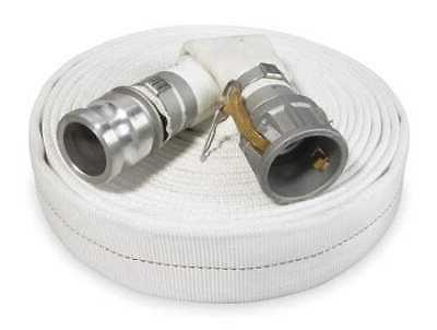 """ZORO SELECT 1ZMT9 2"""" ID x 50 ft Rubber Water Discharge Hose"""