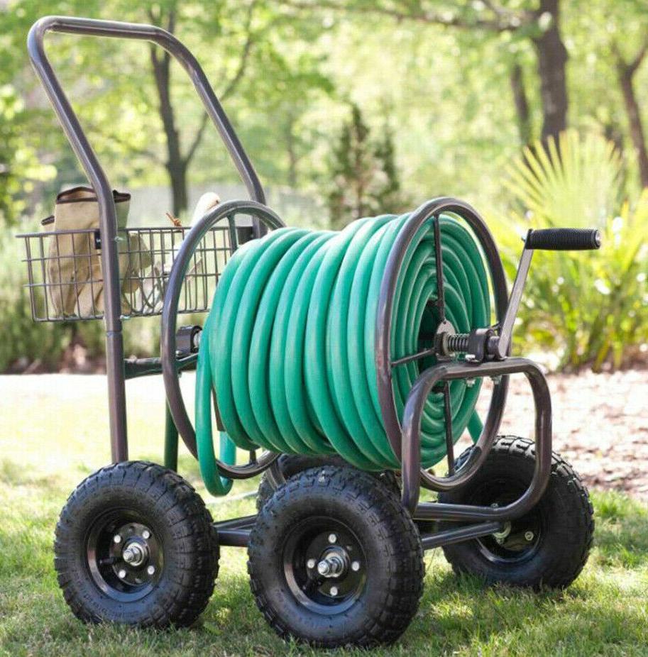 4 wheel hose cart pneumatic