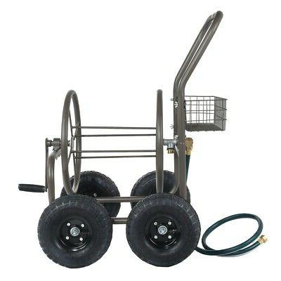 Palm Springs Portable Garden Hose Cart on Wheels Holds