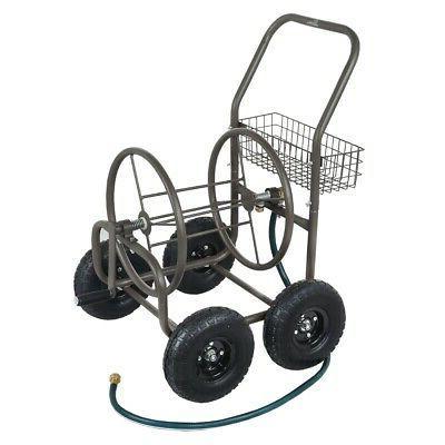 4 wheel portable garden hose reel cart