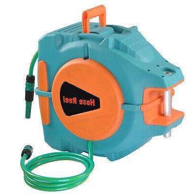 65Ft Auto Rewind Garden Water Hose Reel Retractable Automati