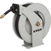 Klutch Auto Rewind Air Hose - 1/2in. 50ft. Rubber Hose, PSI