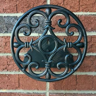 Water Garden Hose Reel Wall Mount Cast Aluminum Outdoor Stor