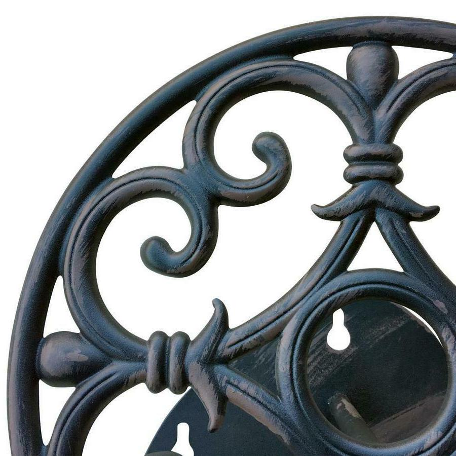 .Decorative Black Steel Lawn Storage Reel Aluminum