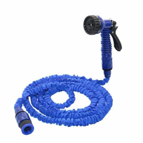 Deluxe 50 100 FT Flexible Garden Water Hose Spray NS