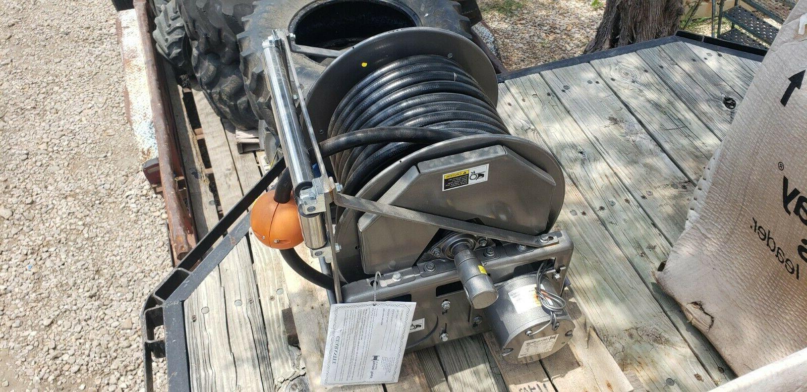 electric wind 3 4 hydraulic hose reel