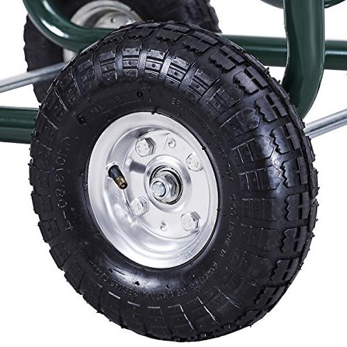 Giantex Cart 4-Wheel Lawn Outdoor Water Planting