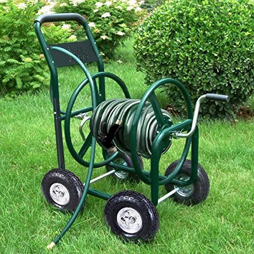Giantex Hose Cart 4-Wheel Outdoor Heavy Water Planting