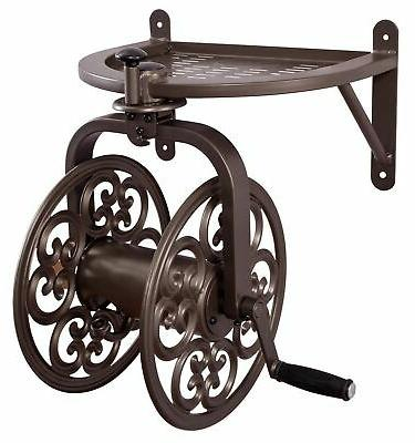 Garden Wall Mount Steel Decorative Swivel Rotating Water Hos