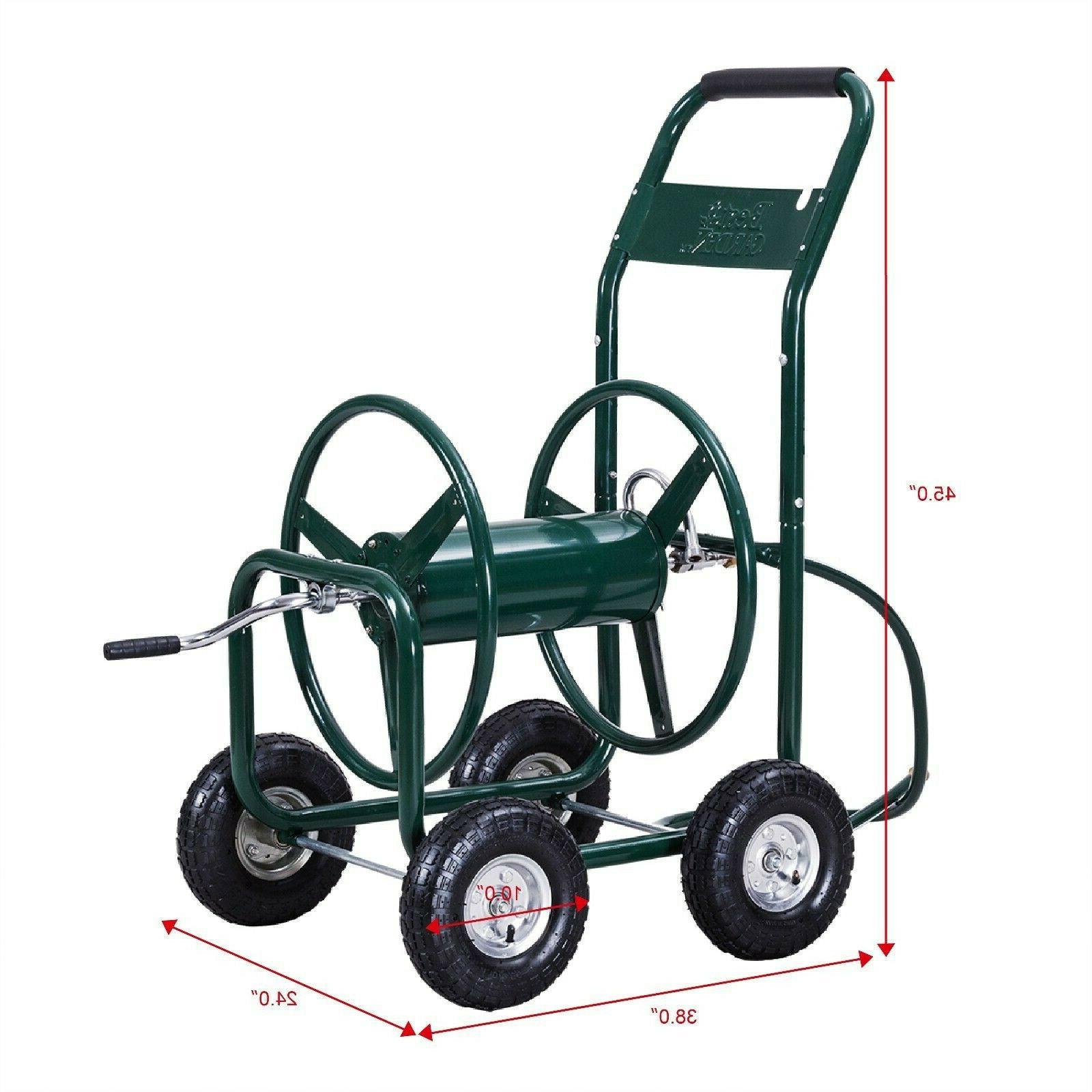 Garden Hose Reel Cart Duty Foam Padded ft NEW