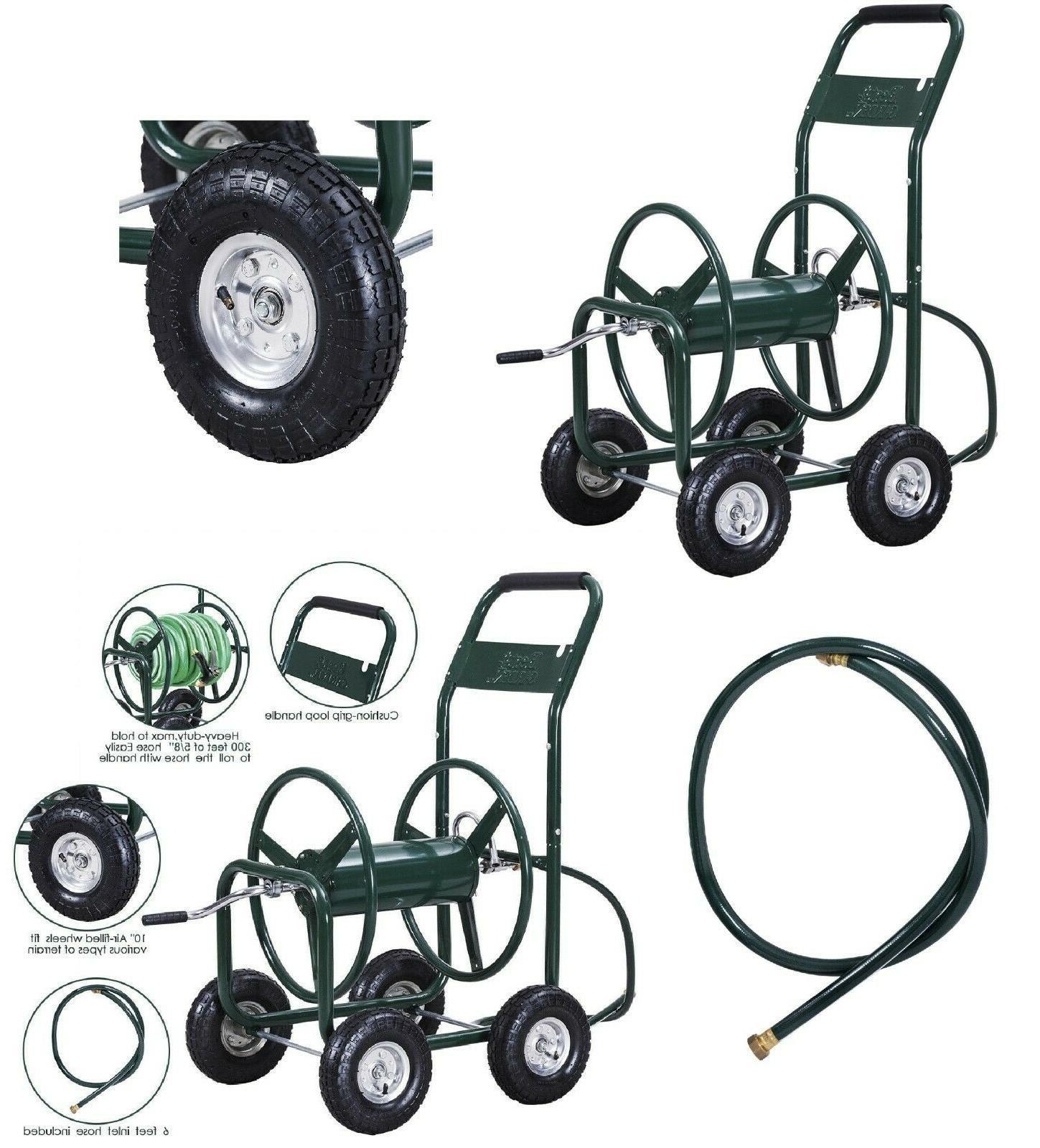 garden water hose reel cart heavy duty
