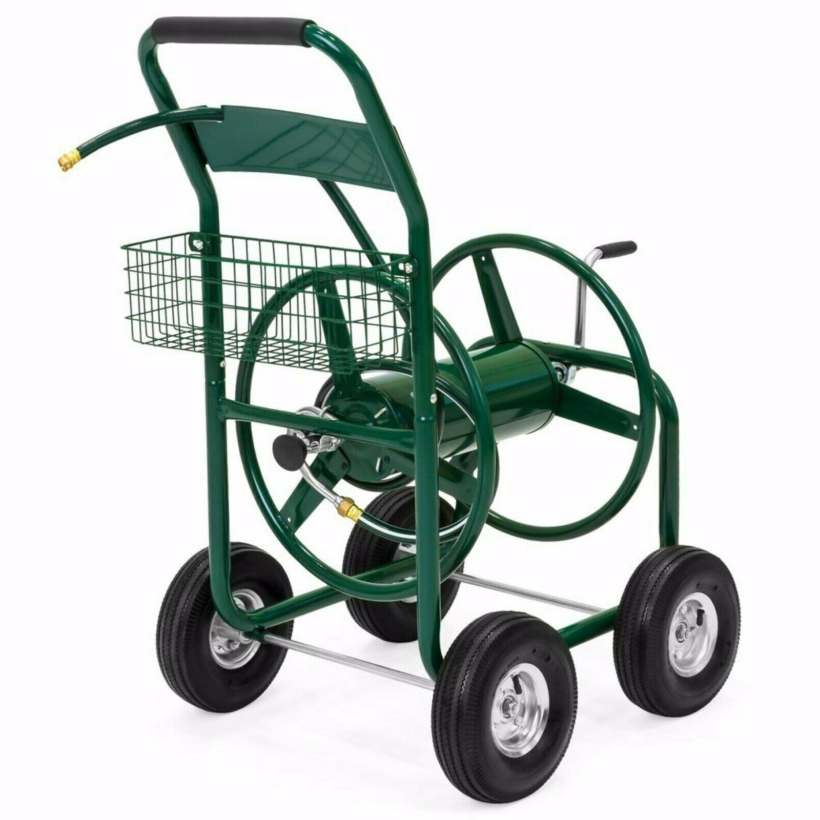 garden water hose reel cart outdoor heavy