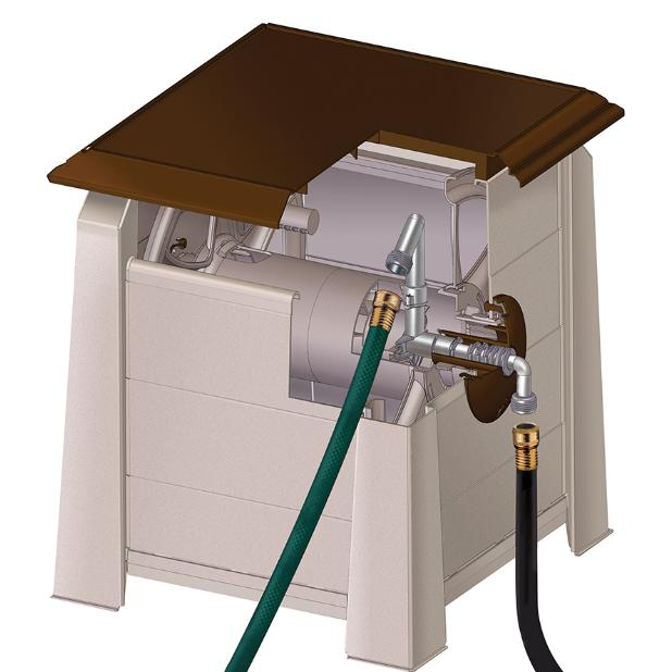 Garden Water Hose Reel Hideaway Extension Cord Storage
