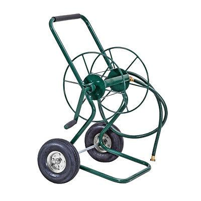 Garden Wheeled Hose Reel Cart Steel Truck