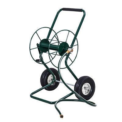 garden wheeled hose reel cart steel frame