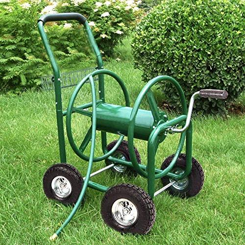 BestMassage Reel Cart Cart with Heavy Hose Yard Planting