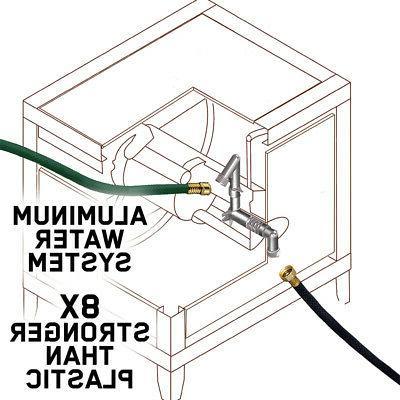 Hideaway Hose Storage Wicker Metal Cabinet Auto-Track