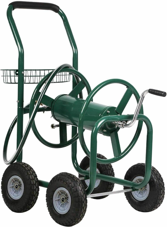 hose reel garden cart portable heavy duty
