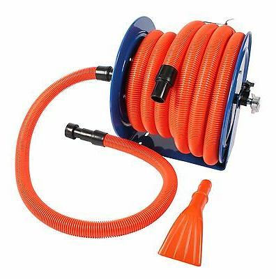 Industrial Hose Reel and 50 ft. Hose with Adapters for Shop