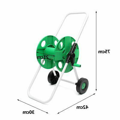 Movable Watering Trolley Complete Hose Cart Stand Holder