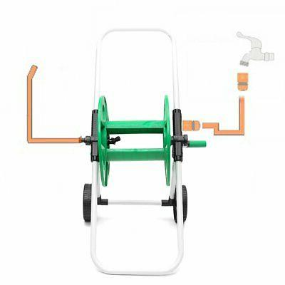 Movable Garden Watering Complete Pipe Cart Stand Holder Winder
