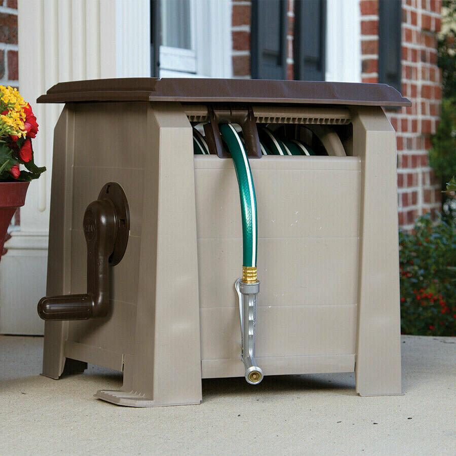 Plastic Garden Hose Reel Cart Pressure Water Outdoor
