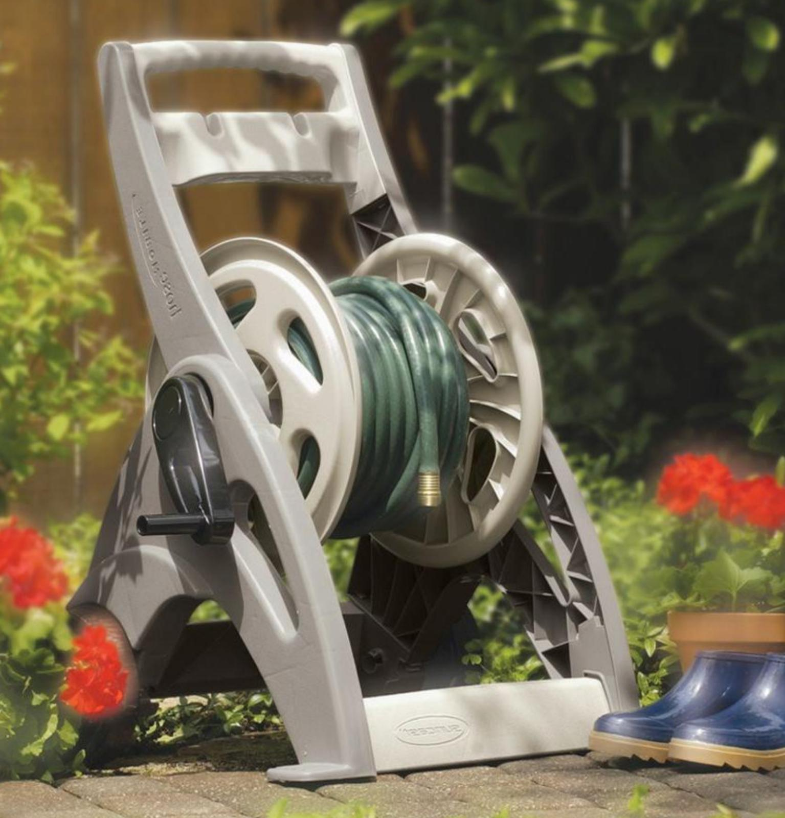 Portable Water Hose Reel Manual Storage Wheels